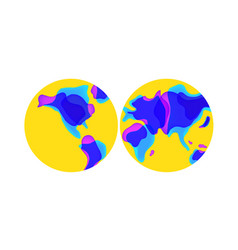 trendy liquid shaped world map vector image