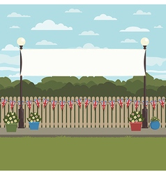 Uk park scene vector