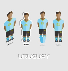 Uruguay Soccer Team Sportswear Template vector image