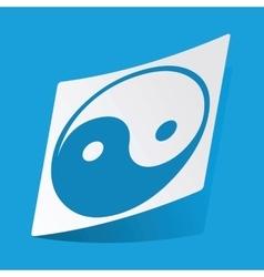 Yin yang sticker vector