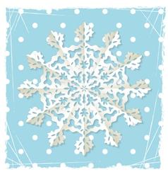 Christmas origami snowflake vector image vector image