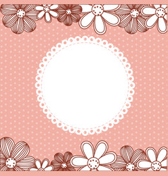 color pattern dotted with flowers background vector image vector image