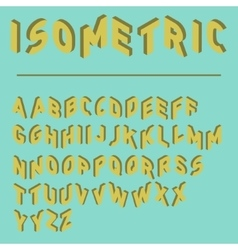 isometric font with two versions of each letters vector image vector image