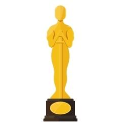 Oscar film festival award vector