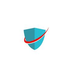 shield loop protection business logo vector image