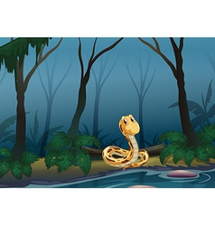 A snake near the pond vector image