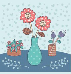 flower vase editable vector image vector image