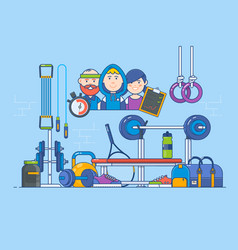 sport recreation active lifestyle concept vector image