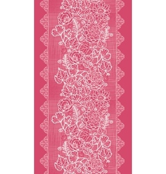 Blue lace flowers vertical seamless pattern vector image vector image