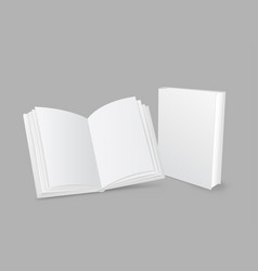 closed and open book vector image vector image