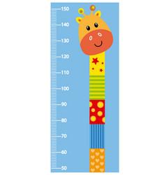 meter wall giraffe vector image vector image