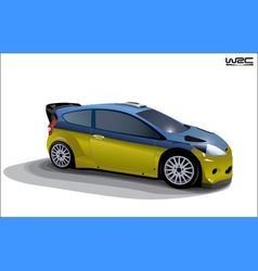 rally sport car vector image vector image