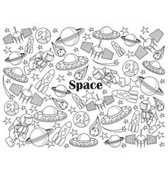 Space colorless set vector