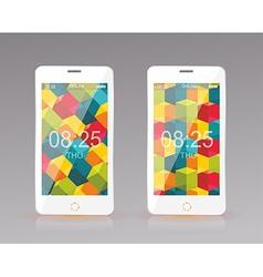 Modern smart phone mobile interface wallpaper vector image vector image