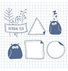 Set of cute labels vector image vector image