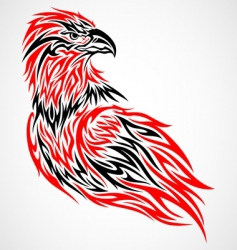 tribal eagle vector image vector image