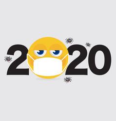 2020 is year that corona virus spread vector image