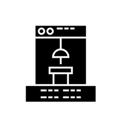 3d printer icon black sig vector image