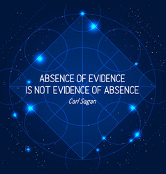 Absence of evidence is not evidence of absence vector