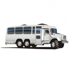 all terrain bus vector image