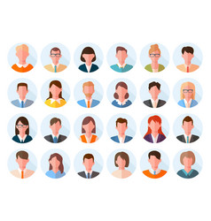 avatars head large set characters anonymous users vector image