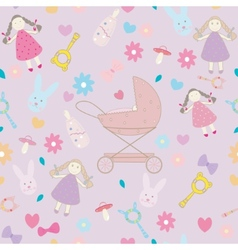 Baby girl texture layette pattern vector