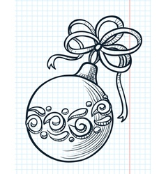 ball decoration vector image