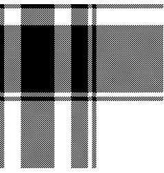 Black white plaid seamless pixel pattern vector