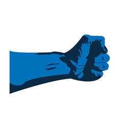 Blue hand vector