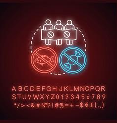 Boycott neon light concept icon public vector