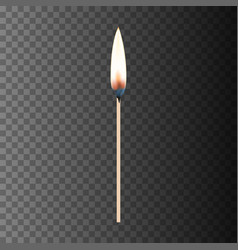 burning match eps10 vector image