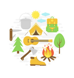 Camping poster vector