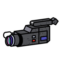 cartoon image of video camera camera symbol vector image