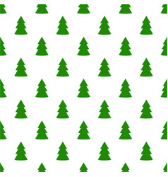 christmas fir tree green art seamless pattern on vector image