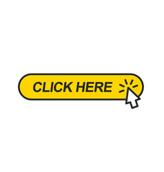 Click here button with mouse cursor icon vector