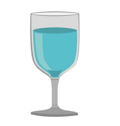 colorful silhouette of glass of wine with water vector image