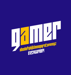 Computer game lowercase style font vector