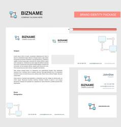 computer networks business letterhead envelope vector image