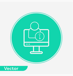 computer user icon sign symbol vector image