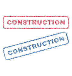 Construction textile stamps vector