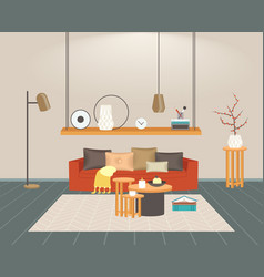 contemporary living room interior empty no people vector image