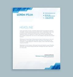 Corporate letterhead presentation vector