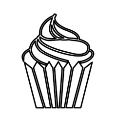 cupcake isolated icon design vector image