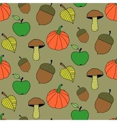 Cute Cartoon Autumn Seamless Pattern vector image