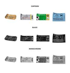 Design of ticket and admission symbol set vector