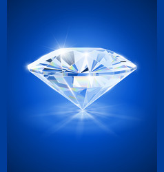 diamond on blue background vector image