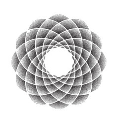 Dots flower mandala black vector