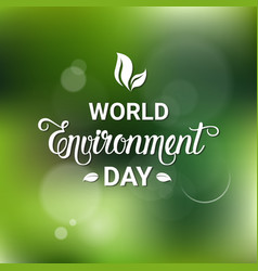 earth world environment day ecology protection vector image