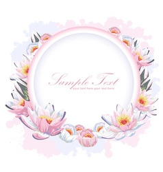Elegant colorful flower invitation postcard vector image