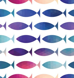 fish seamless pattern triangle fish Abstract fi vector image